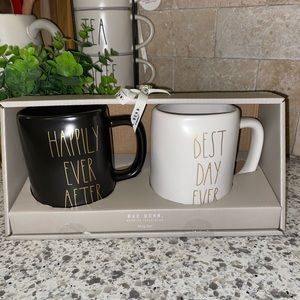 """Rae Dunn """"Happily Ever After & Best Day Ever"""" Mugs"""